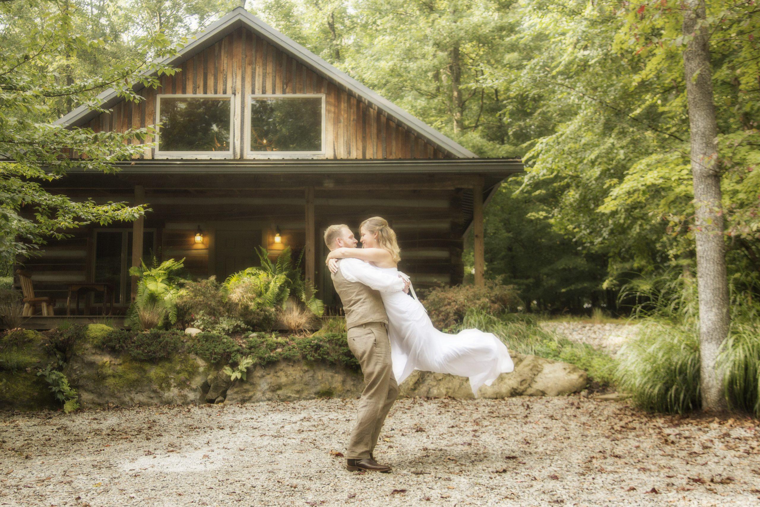 Antler Log Cabin Weddings